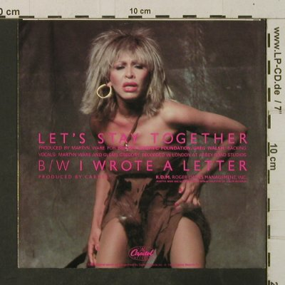 Turner,Tina: Let's Stay Together / I Wrote A Let, Capitol(1868197), EEC, 1983 - 7inch - T3534 - 2,50 Euro