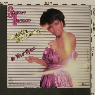 Benson,Sharon: Hold On,I'm Coming / In Your Eyes, Global(105 745-100), D, 1983 - 7inch - T3565 - 2,00 Euro