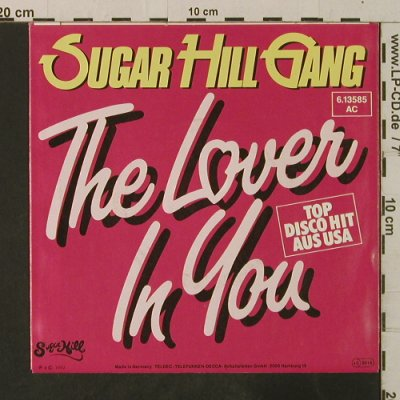 Sugar Hill Gang: The Lover In You*2, SugarHill(6.13585 AC), D, 1982 - 7inch - T3569 - 3,00 Euro