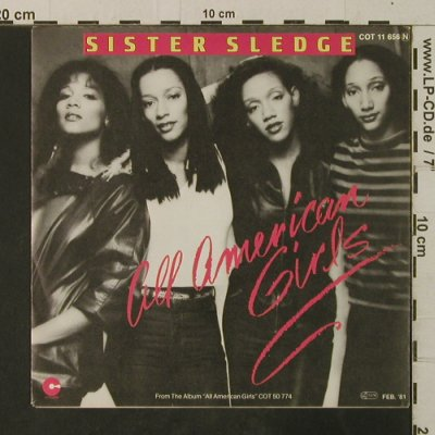 Sister Sledge: All American Girls / Happy Feeling, Cotillion(COT 11 656), D, 1981 - 7inch - T3641 - 3,00 Euro