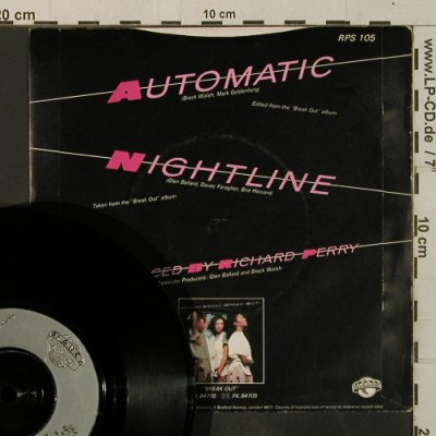 Pointer Sisters: Automatic / Nightline, Planet(RPS 105), UK, 1984 - 7inch - T3663 - 2,50 Euro