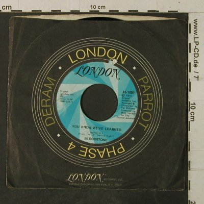 Bloodstone: You know we've learned, London(45-1051), US,vg+/VG+, 1972 - 7inch - T3892 - 3,00 Euro