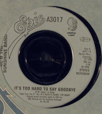 KC & The Sunshine Band: Give It Up / It's Too late to say g, Epic, FLC(A 3017), UK, 1982 - 7inch - T4036 - 5,00 Euro