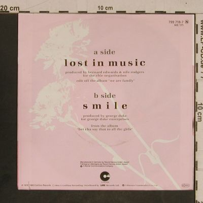 Sister Sledge: Lost In Music(79) / Smile, Atlantic(799 718-7), D, co, 1983 - 7inch - T4340 - 2,50 Euro