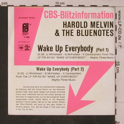 Melvin,Harold & the Bluenotes: Wake Up Everybody pt.1+2, Philadelphia-BlitzPromo(S 3866), D,  - 7inch - T4762 - 4,00 Euro