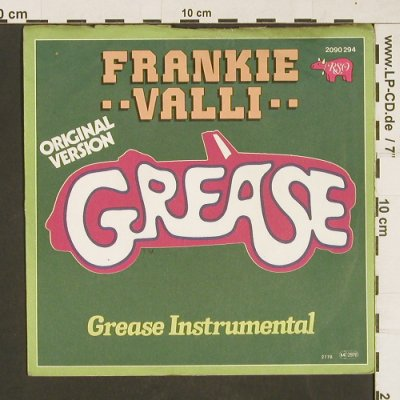 Valli,Frankie: Grease*2 ,instrum., m-/vg+, RSO(2090 294), D, 1978 - 7inch - T48 - 2,50 Euro