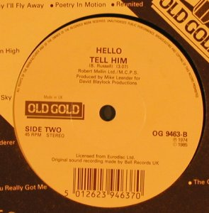 Hello: New York Groove / Tell Him, Old Gold(OG 9463), UK,Ri,FLC, 1985 - 7inch - T492 - 2,50 Euro