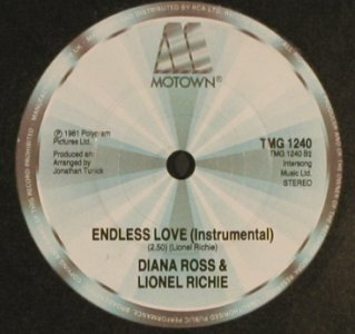 Ross,Diana & Richie,Lionel: Endless Love*2 (vocal/instr.), Motown(TMG 1240), UK, LC, 1981 - 7inch - T493 - 3,00 Euro