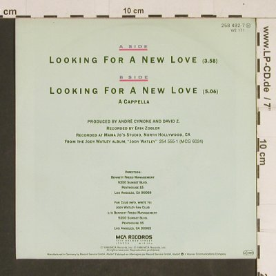 Watley,Jody: Looking For A New Love*2,a cappella, MCA(258 492-7), D, 1986 - 7inch - T496 - 2,50 Euro