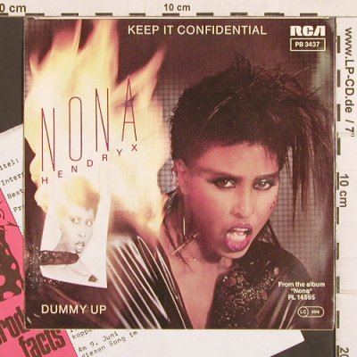 Hendryx,Nona: Keep It Confidential, RCA(PB 3437), D, 1983 - 7inch - T4981 - 2,50 Euro