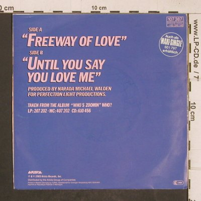 Franklin,Aretha: Freeway of Love, Arista(107 387), D, 1985 - 7inch - T5105 - 2,50 Euro