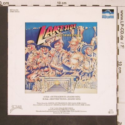 Lakeside: Outrageous, Solar(INT 111.711), D, 1984 - 7inch - T5123 - 3,00 Euro