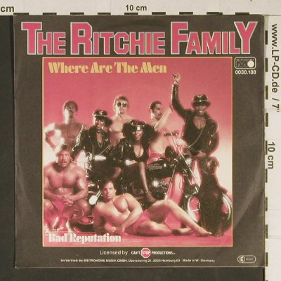 Ritchie Family: Where Are The Men, Metronome(0030.188), D, 1979 - 7inch - T942 - 2,50 Euro