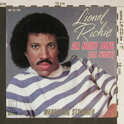 Richie,Lionel: All Night Long / Wandering Stranger, Motown(100-15-103), D, 1983 - 7inch - T943 - 2,50 Euro
