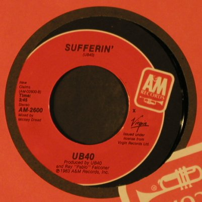 UB 40: Red Red Wine / Sufferin', FLC, AM(AM-2600), US, 1983 - 7inch - T2295 - 3,00 Euro