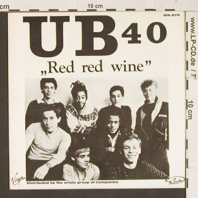 UB 40: Red Red Wine / Sufferin', Virgin(105.679), D,  - 7inch - T251 - 3,00 Euro