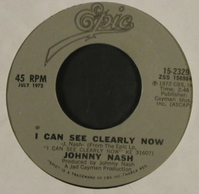 Nash,Johnny: Stir It Up/I Can See Clearly Now,Ri, Epic, LC(15-2329), US, 1987 - 7inch - T2922 - 3,00 Euro
