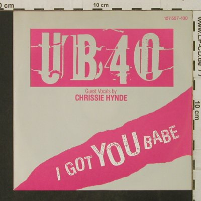 UB 40: I Got You Babe-f.Chrissie Hynde, Virgin(107 557-100), D, 1985 - 7inch - T3214 - 2,50 Euro