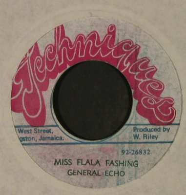 General Echo: Miss Flala Fashing, vg+, Techniques(92-26832), Jamaica,  - 7inch - T3481 - 5,00 Euro