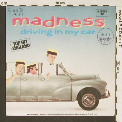 Madness: Driving In My Car,Archiv stol,stoc, Stiff (BUY153)(6.13569 AC), D,woc, 1982 - 7inch - T373 - 3,00 Euro