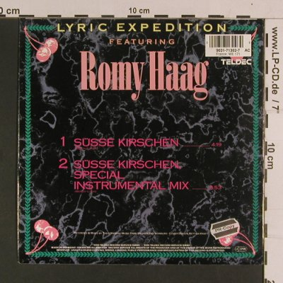 Lyric Expedition feat Romy Haag: Süsse Kirschen / sp.instr.mix, Teldec(9031-71302-7), D, 1990 - 7inch - S8063 - 2,50 Euro
