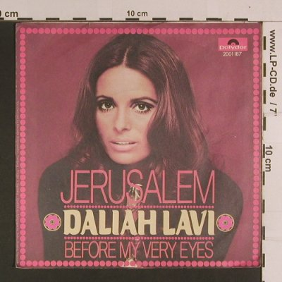 Lavi,Daliah: Jerusalem / Before My Very Eyes, Polydor(2001 187), D, 1971 - 7inch - S8117 - 2,50 Euro