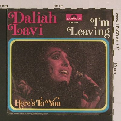 Lavi,Daliah: I'm Leaving/Here's to you, vg+/vg+, Polydor(2001 343), D, 1972 - 7inch - S8118 - 1,50 Euro
