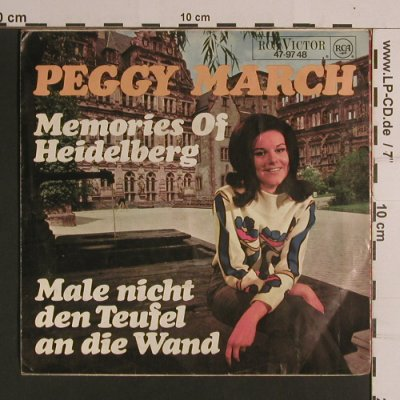 March,Peggy: Male Nicht Den Teufel An Die Wand+1, RCA(47-97 48), D, vg+/vg+,  - 7inch - S8235 - 3,00 Euro