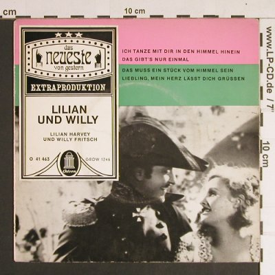 Harvey,Lilian und Willy Fritsch: Lilian und Willy, m-/vg+, Odeon(O 41 463), D,  - EP - S8668 - 3,00 Euro