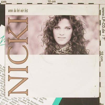 Nicki: Wenn du bei mir bist, m-/vg+, Piccobello/Virgin(113 414), D, Facts, 1990 - 7inch - S9117 - 2,50 Euro