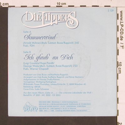Flippers: Sommerwind / Ich glaub' an dich, Dino(S 139), D, 1989 - 7inch - S9355 - 2,50 Euro