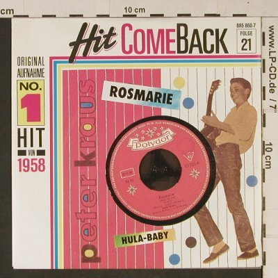 Kraus,Peter: Rosmarie/Hula Baby, Polydor(885 860-7), D, 1958 - 7inch - T1032 - 2,50 Euro
