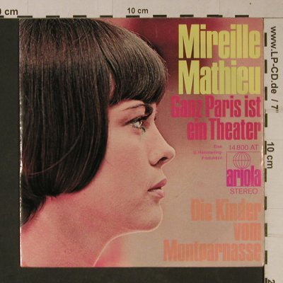 Mathieu,Mireille: Ganz Paris ist ein Theater, Ariola(14 800 AT), D, 1970 - 7inch - T1110 - 3,00 Euro
