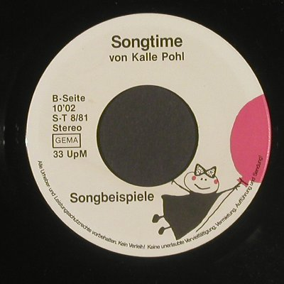 Pohl,Kalle: Songtime, LC, (S-T 8/81), D,  - EP - T2588 - 3,00 Euro