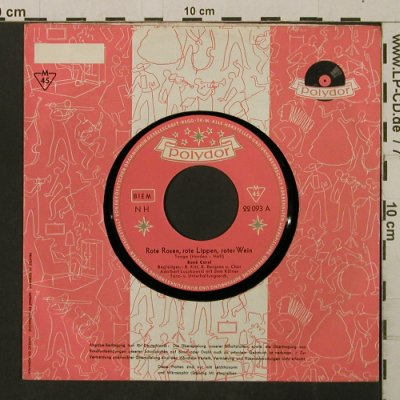 Carol,René: Rote Rosen, rote Lippen, roter Wein, Polydor, FLC(22 093), D, 1954 - 7inch - T2888 - 3,00 Euro