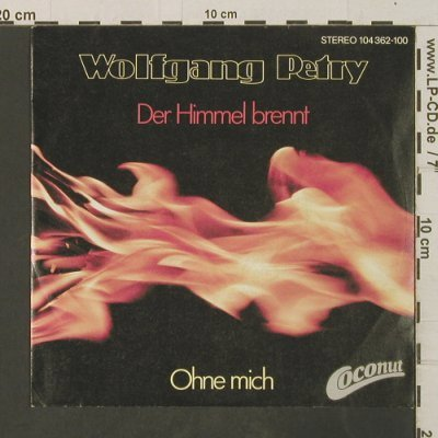 Petry,Wolfgang: Der Himmel brennt, Coconut(104 362-100), D, 1982 - 7inch - T3007 - 2,50 Euro