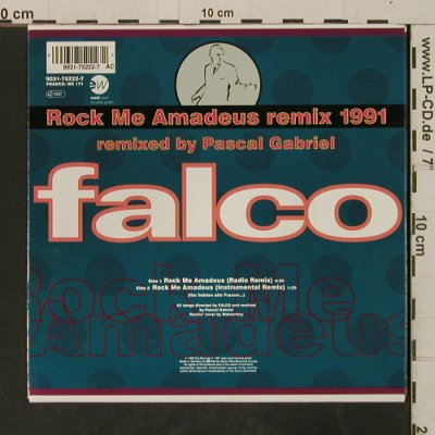 Falco: Rock Me Amadeus Remix 1991 / Inst., EastWest(9031-75222-7), D, 1991 - 7inch - T3293 - 3,00 Euro