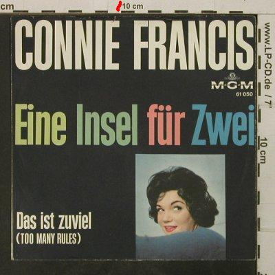 Francis,Connie: Eine Insel für zwei, Cover only,vg+, MGM(61 050), D,  - Cover - T3870 - 2,00 Euro