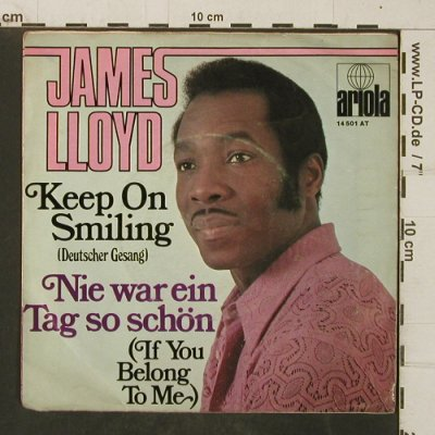 Lloyd,James: Keep On Smiling(deut.), vg+/VG+, Ariola(14 501 AT), D,  - 7inch - T4035 - 2,50 Euro