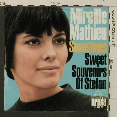 Mathieu,Mireille: Sometimes/Sweet Souvenirs, Ariola(14 200 AT), D,  - 7inch - T4064 - 3,00 Euro