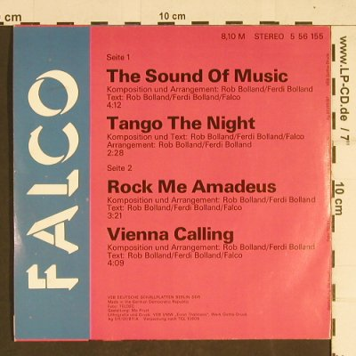 Falco: The Sound of Musik, Amiga(5 56 155), D, 1987 - EP - T428 - 3,00 Euro