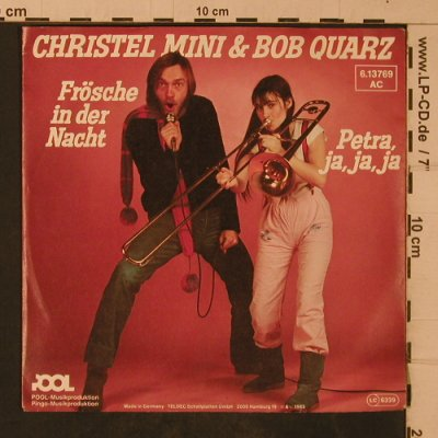 Christel Mini & Bob Quarz: Frösche in der Nacht, Pool(6.13769 AC), D, 1983 - 7inch - T4709 - 2,50 Euro