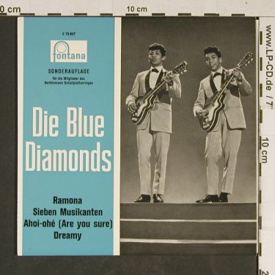 Blue Diamonds: Ramona, Fontana(E 76 807), D, 1962 - EP - T827 - 4,00 Euro