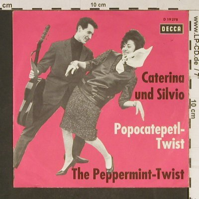 Caterina & Silvio: Popocatepetl-Twist, cover only, Decca(D 19 278), D,  - Cover - T848 - 2,50 Euro