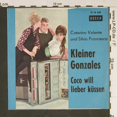 Caterina & Silvio: Kleiner Gonzales, cover only, Decca(D 19 368), D,  - Cover - T932 - 1,50 Euro