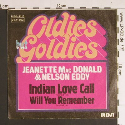 Mac Donald,Jeanette & Nelson Eddy: Indian Love Call-Will you remember, RCA(26.11303), D,  - 7inch - S8684 - 2,50 Euro