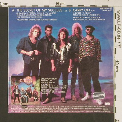 Secret of my Success/Night Ranger:  / Carry On, MCA(258 380-7), D, 1987 - 7inch - S9228 - 2,00 Euro