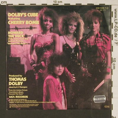 Dolby's Cube feat. Bomb,Cherry: Howard The Duck, MCA(258-508-7), D, 1986 - 7inch - S9414 - 3,00 Euro
