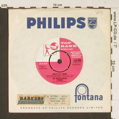 Knightsbridge Strings: Amagleto's Theme/The Singer not t.s, Top Rank(JAR-532), UK, 1961 - 7inch - S9800 - 5,00 Euro