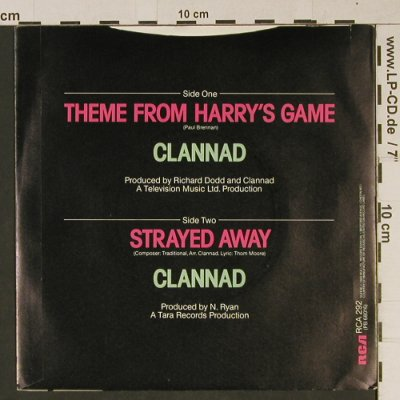 Harry's Game: Theme played by Clannad, RCA(RCA 292), UK, 1982 - 7inch - T1023 - 2,00 Euro